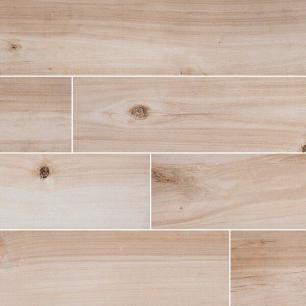 Havenwood 8 x 36 Porcelain Wood Look Tile in Beige by MSI