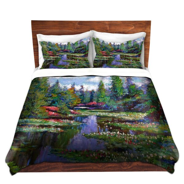Hadley David Lloyd Glover Waterlily Lake Reflections Microfiber Duvet Covers