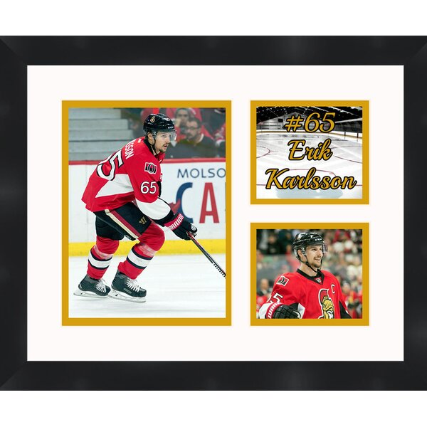 Ottawa Senators Erik Karlsson 65 Photo Collage Framed Photographic Print by Frames By Mail