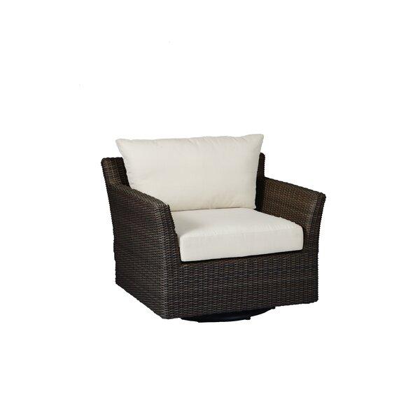 Club Woven Glider Chair with Cushions