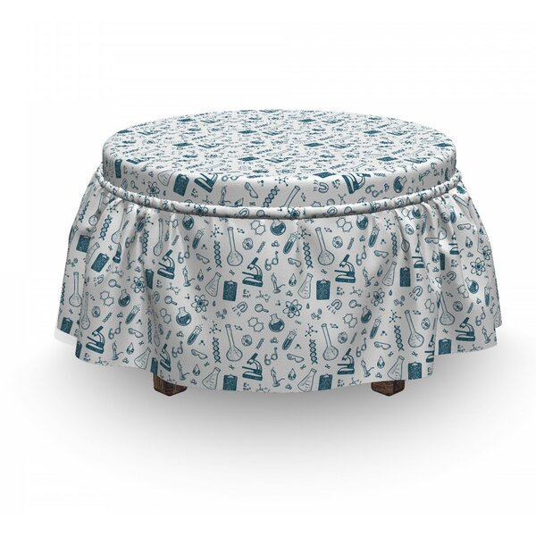 Discount Chemical Illustration Ottoman Slipcover (Set Of 2)
