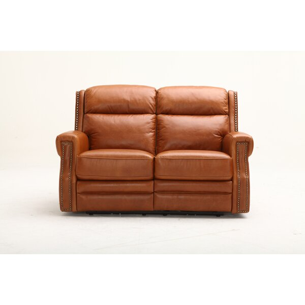 Maxwell Leather Reclining Loveseat by Southern Motion