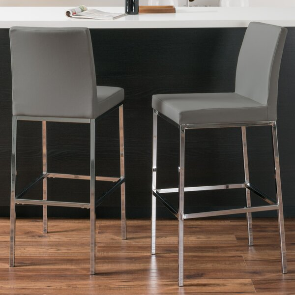 Onya Contemporary Bar Stool (Set of 2) by Orren Ellis