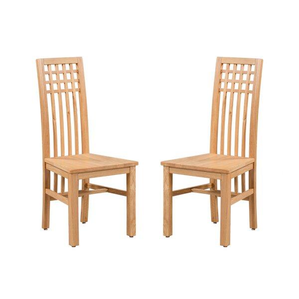 Koome Solid Wood Dining Chair (Set of 2) by Loon Peak