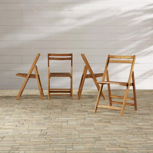 Valda Folding Patio Dining Chairs (Set of 4) by Highland Dunes Highland Dunes