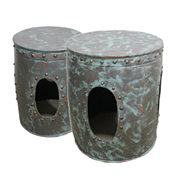 Durain 2 Piece Nesting Tables By World Menagerie
