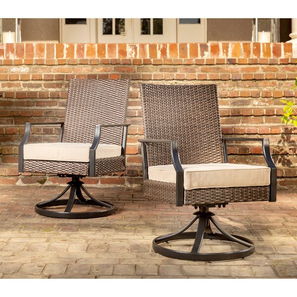 Addyson Swivel Patio Dining Chair with Cushion (Set of 2) by La-Z-Boy