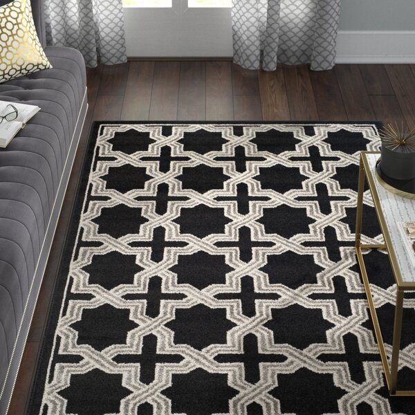 Maritza Anthracite/Grey Area Rug by Willa Arlo Interiors