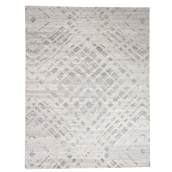 One-of-a-Kind Woodmansee Undyed Natural Oriental Hand-Knotted Area Rug by Orren Ellis