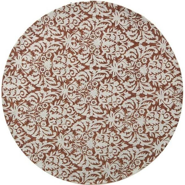 Peachtree Corners Tatham Hand-Hooked Brown/Beige Area Rug by One Allium Way