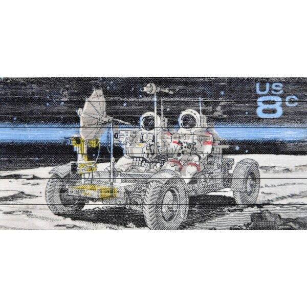 Moon Roving Graphic Art on Wood by Marmont Hill