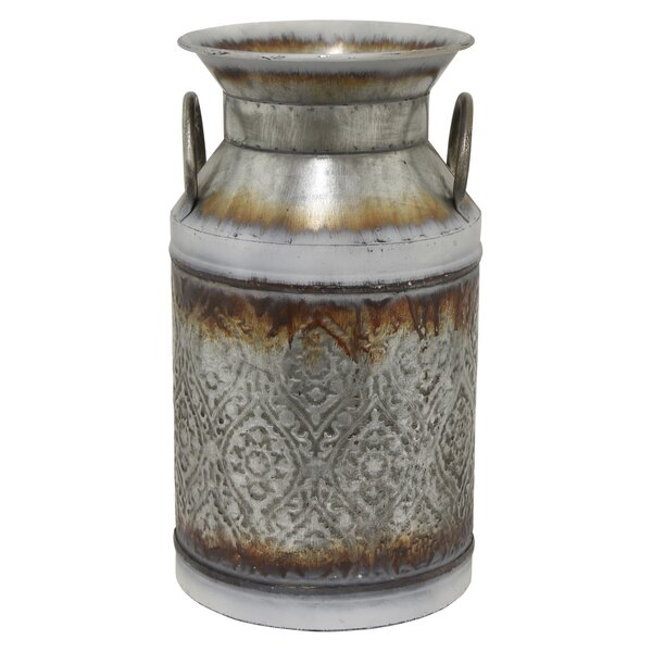 Barret Galvanized Metal Pot Planter by Gracie Oaks