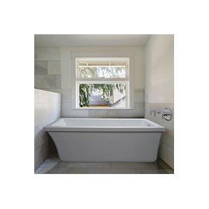 freestanding tub end drain. End Drain Freestanding 65 5  x 32 Soaking Tub with Virtual Spout Wayfair