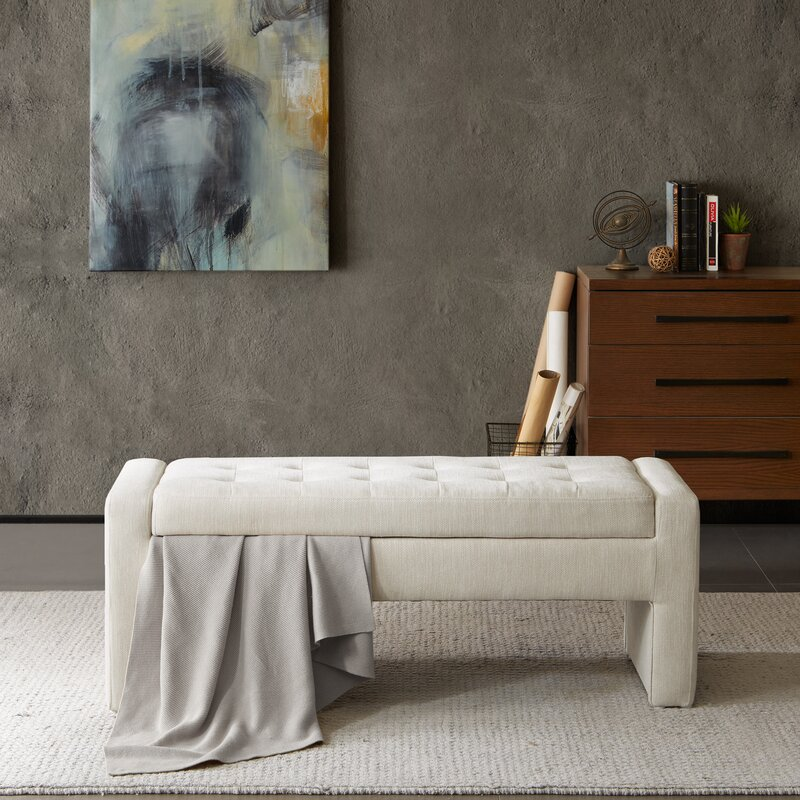 Bedroom 18 Storage Bench Bedroom Accent Furniture Ideas: Latitude Run Chandra Upholstered Storage Bench & Reviews