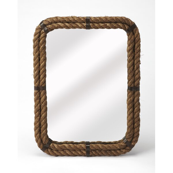 Oxman Rectangular Rope Wall Mirror by Longshore Tides