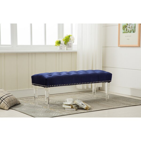 Allgood Upholstered Bench by Everly Quinn