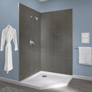 Top Reviews Jetcoat™ 78 x 42 x 42 Two Panel Neo-Angle Shower Wall ByHazelwood Home