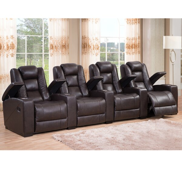 Midway Leather Home Theater Recliner by Amax