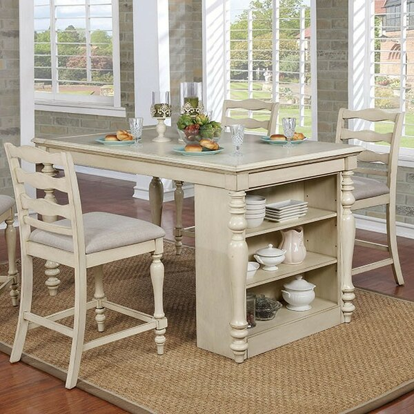 Ford 5 Piece Counter Height Dining Set by Rosecliff Heights