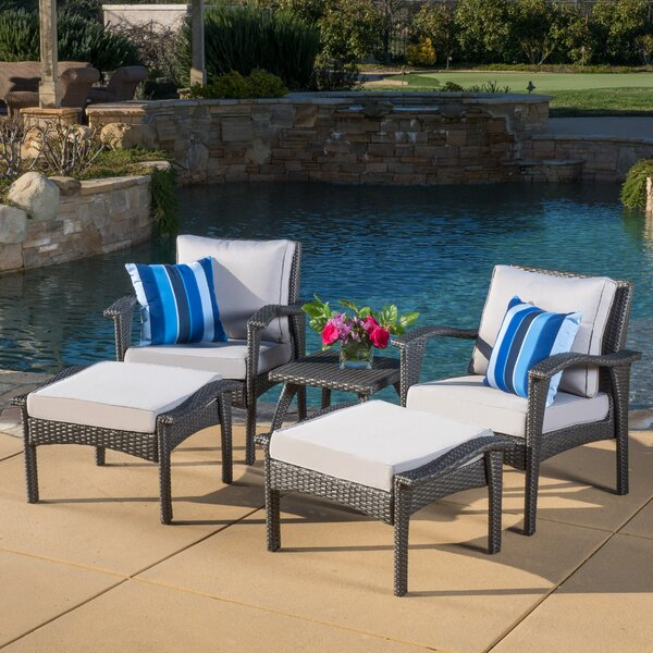 Beacon 5 Piece Conversation Set with Cushions by Sol 72 Outdoor