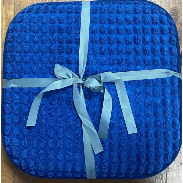 Mosaic Memory Foam Indoor/Outdoor Dining Chair Cushion (Set of 2)