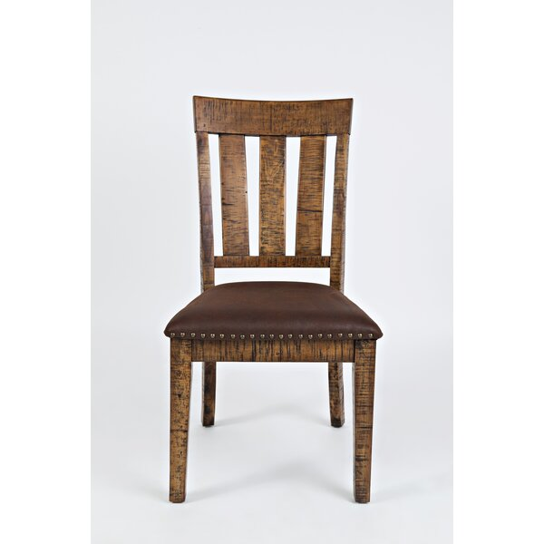 Kody Slatted Back Solid Wood Dining Chair (Set of 2) by Millwood Pines