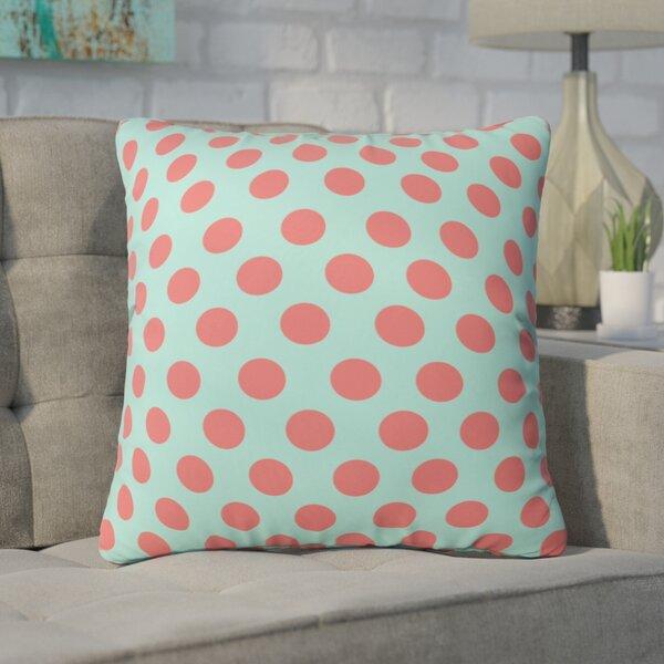 Mouton Adorable Dots Outdoor Throw Pillow by Brayden Studio