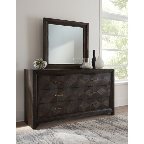 Tarazon 6 Drawer Dresser with Mirror by Wrought Studio