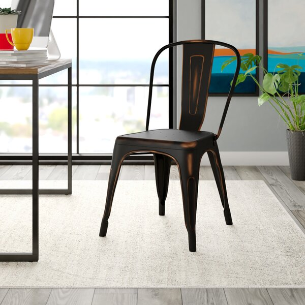 Chiara Industrial Stackable Dining Chair by Williston Forge