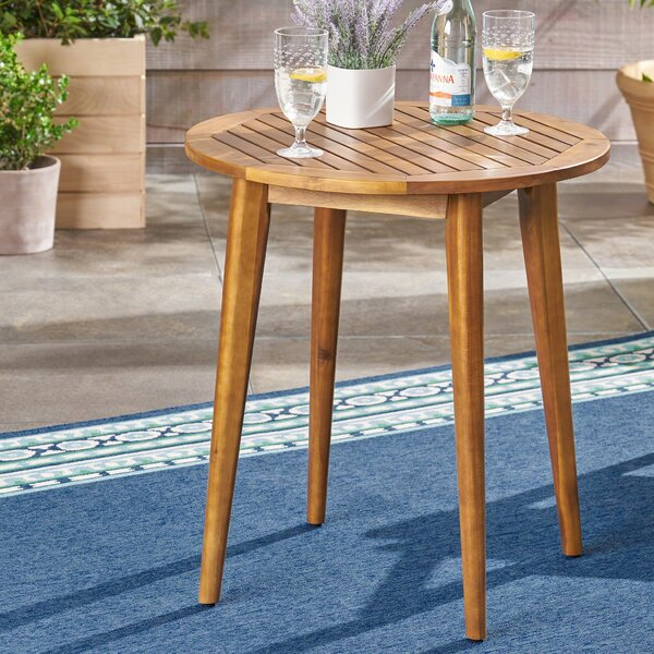 Bangor Acacia Wood Bistro Table by Millwood Pines