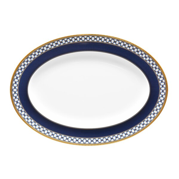 Blueshire Oval Bone China Platter by Noritake
