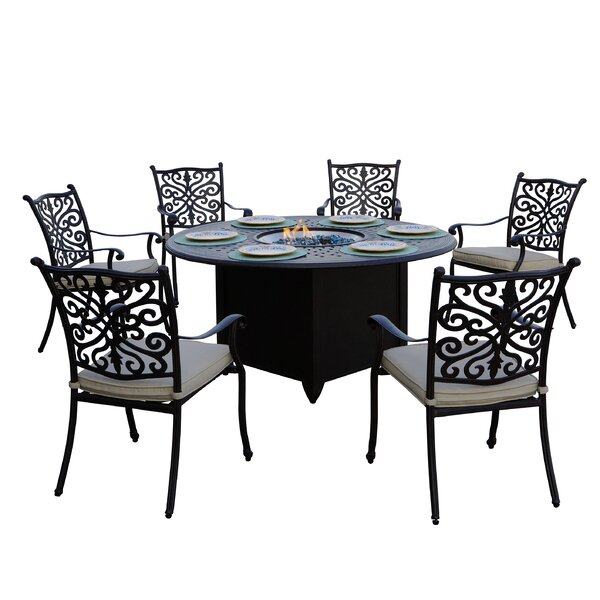 Shockey 7 Piece Dining Set with Cushions by Canora Grey Canora Grey