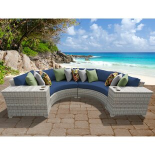 Ansonia 4 Piece Sofa Set with Cushions