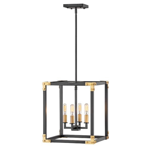 Altha 4 - Light Lantern Square Chandelier by 17 Stories 17 Stories