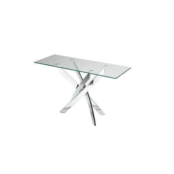 Clemente Rectangular Glass Top Console Table By Orren Ellis