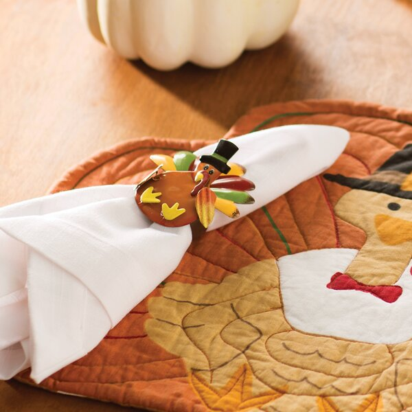 Turkey Metal Napkin Ring (Set of 6) by The Holiday Aisle