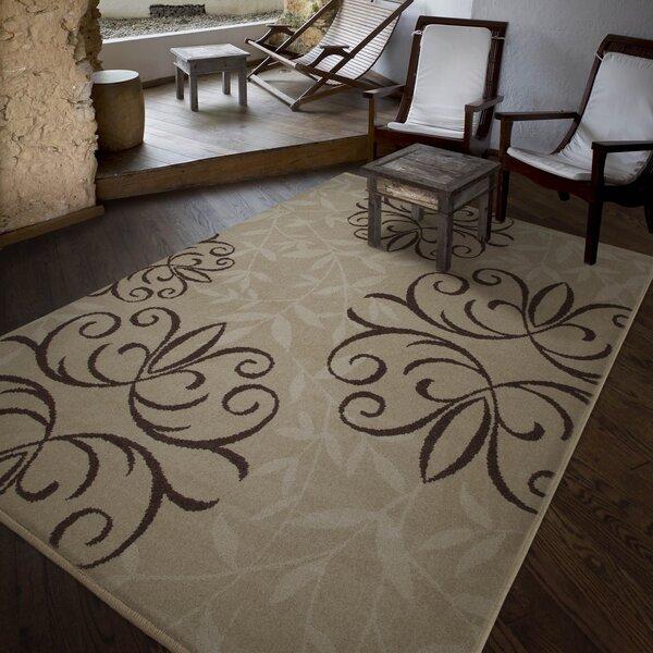 Adrian Whisper Beige Indoor/Outdoor Area Rug by Fleur De Lis Living