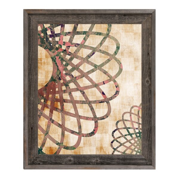 Flower Wheel Rust Framed Graphic Art on Canvas by Click Wall Art