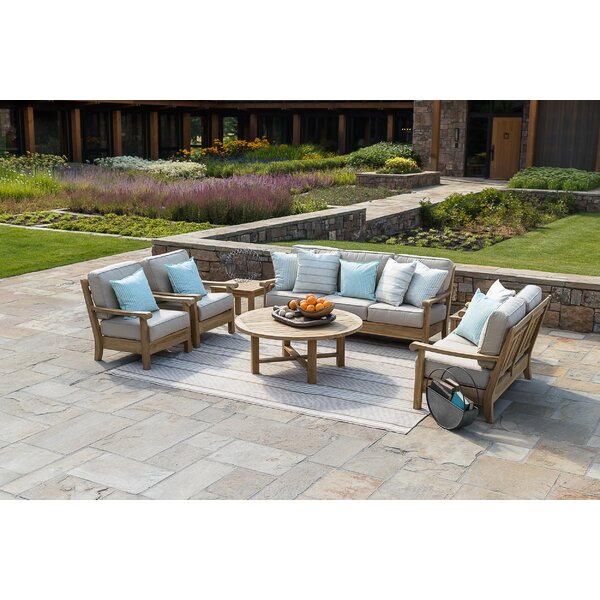 Chasity Deep 3 Piece Sofa Seating Group with Sunbrella Cushions by August Grove