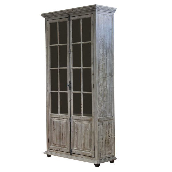 Llewellyn Glazed 2 Doors Accent Cabinet by 17 Stories