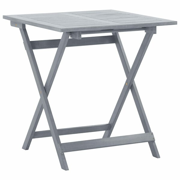 Wander Folding Solid Wood Bistro Table by Gracie Oaks