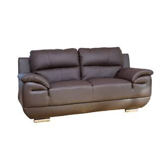 Super Ebern Designs Renata Genuine Leather 3 Seater Sofa Wayfair Evergreenethics Interior Chair Design Evergreenethicsorg