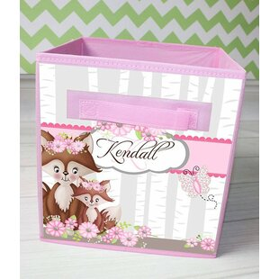 Buy clear Floral Fox Personalized Fabric Bin By Toad and Lily