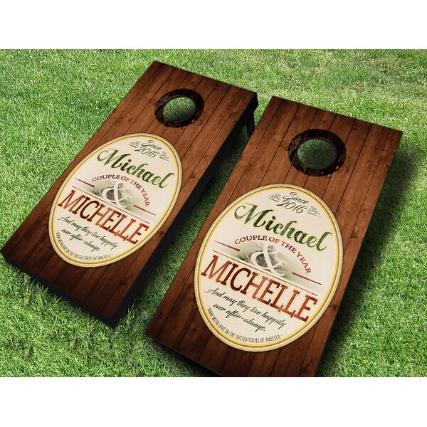 Wedding Emblem Cornhole Set by AJJ Cornhole