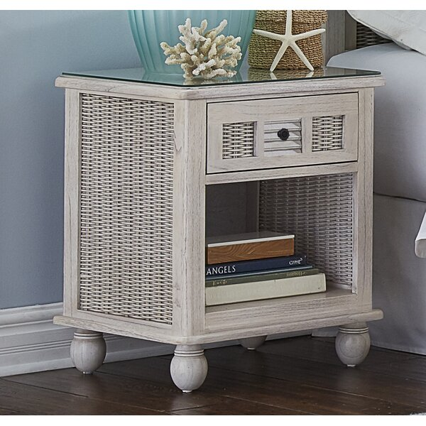 Miah 1 Drawer Nightstand by Rosecliff Heights