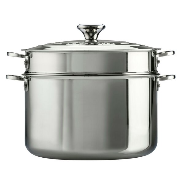 Stainless Steel 9 Qt. Stock Pot with Lid by Le Creuset