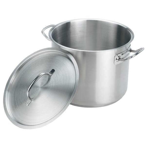 Stainless Steel Stock Pot with Lid by Crestware