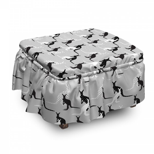 Seashell Built In Animals Ottoman Slipcover (Set Of 2) By East Urban Home
