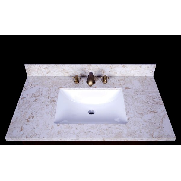 Cortona 37 Single Bathroom Vanity Top by Renaissance Vanity