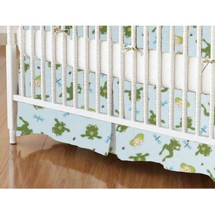 Affordable Price Frogs n Pods Crib Skirt By Sheetworld
